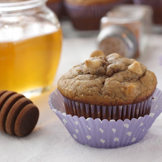 Peanut Butter Honey Banana Muffins