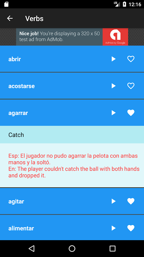 Learn Spanish: Free Offline Audio Dictionary- screenshot