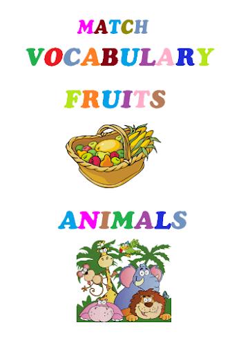 匹配英语词汇游戏