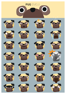 Pug Stickers for Gboard - náhled
