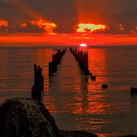 Bridport Sunrise, Tas. by Ron Rainbow - Uncategorized All Uncategorized
