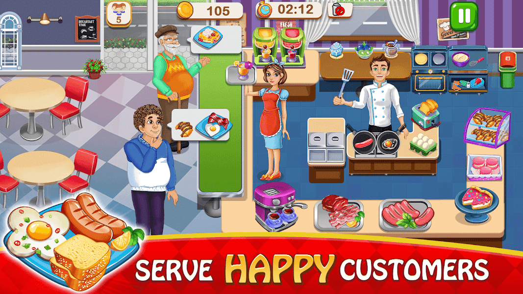 Cooking Delight Cafe- Tasty Chef Restaurant Games