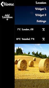Golden Hay Bales Clock Widget - náhled