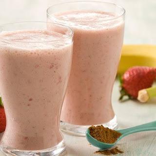 Strawberry Coconut Milk Smoothie.