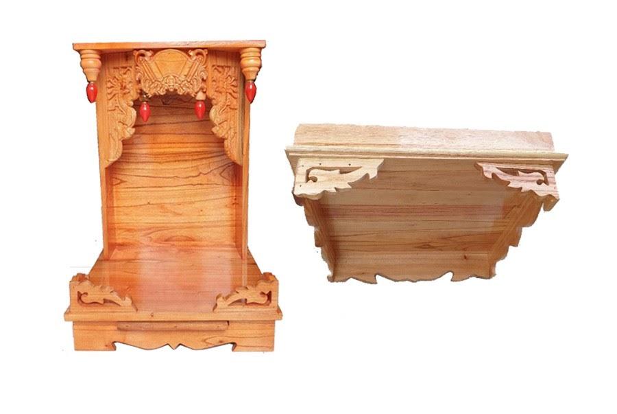 Bàn thời thần tài, bàn thờ ông địa, gỗ xoan ghép ngang 398094