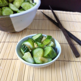 Sesame Ginger Pickled Cucumbers