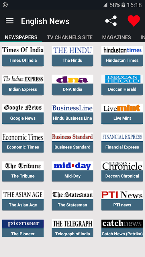 Latest News  Breaking News Live  Current Headlines  India News     Snapdeal English NewsPapers Online  screenshot