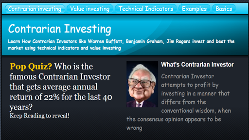 Contrarian Investing - Value