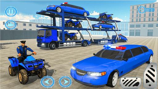 US Police limousine Car Quad Bike Transporter Game 1.6 screenshots 2