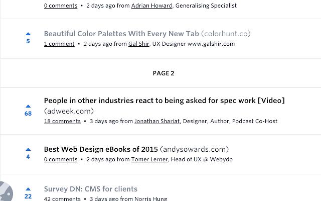 Designer News Infinite Scroll