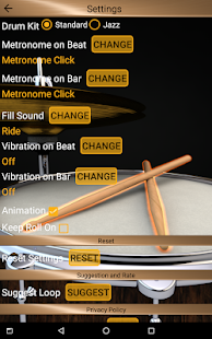 Drum-Loops und Metronom Pro Screenshot