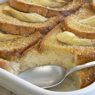 Banana and Irish Cream Bread Pudding.