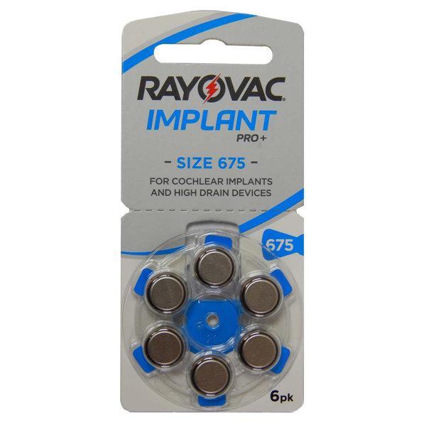 Батарейки для кохлеарных имплантов Rayovac Implant Pro+ (6шт)