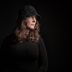 Tabitha  by Jerry King - People Portraits of Women ( #woman #atlanta #portrait #hat #canon #5dmii #octabox #einstein #beauty #studio )