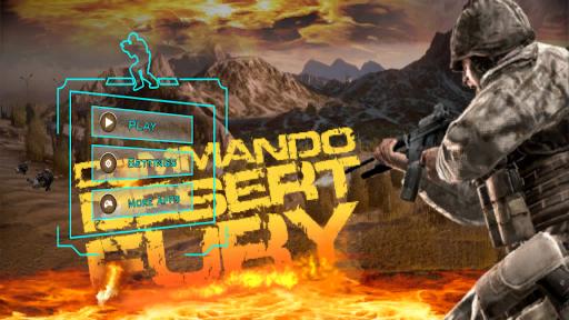 Commando Desert Fury Action 3D