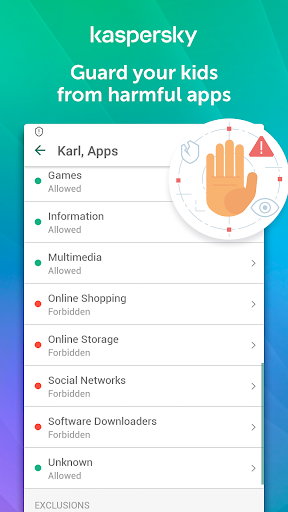 Parental Control & Kids GPS: Kaspersky SafeKids 1.20.0.1029 screenshots 1