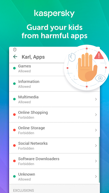 Parental Control & Kids GPS: Kaspersky SafeKids Android App Screenshot
