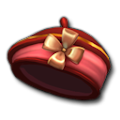 十字リボンバレンタイン帽子