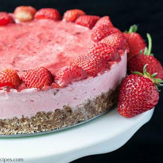 No-Bake Strawberry Ice Cream Tart [Vegan, Gluten-Free].