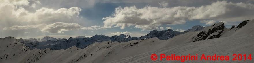 Photo: Panorama 7 zoom e salendo verso cima Forzellina appare il gruppo Adamello Brenta