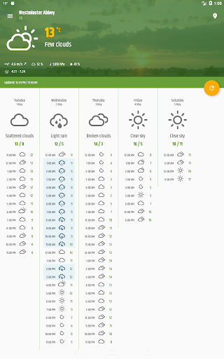 Simple weather & clock widget (no ads) screenshots 14