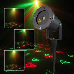 Proiector laser de exterior cu telecomanda, proiectii de sarbatori