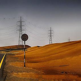 Sign by Arslan Mughal - Landscapes Deserts