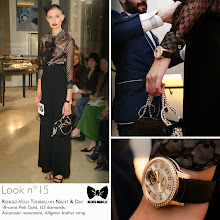 Photo: Seen at #JLCandAlexisMabille fashion show: the Rendez-Vous Tourbillon Night & Day watch.   Technical details: 18-carat Pink Gold, 125 diamonds, Automatic movement, Alligator leather strap.  Reference: 3412407  More looks at: http://bit.ly/1eJ1YKh