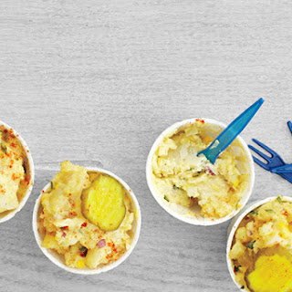 Eggy Potato Salad with Pickles.
