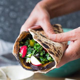 Middle Eastern Eggplant Wrap.