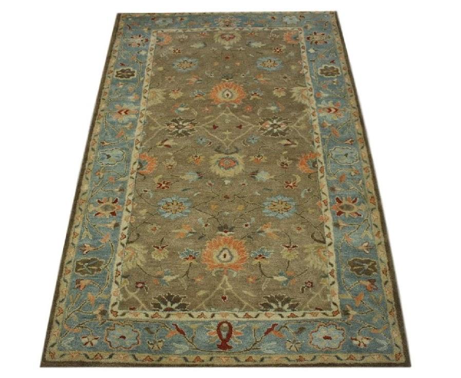 100% wełnany tradycyjny dywan z Indii ręcznie taftowany 150x240cm