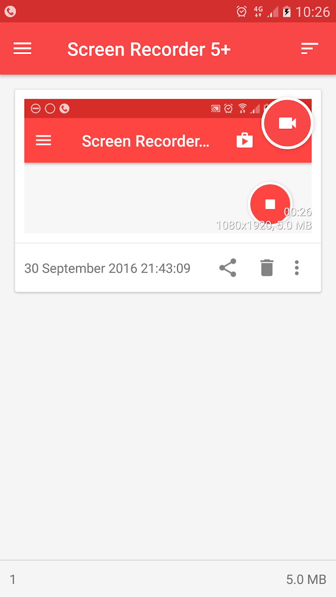 Screen Recorder Android 3