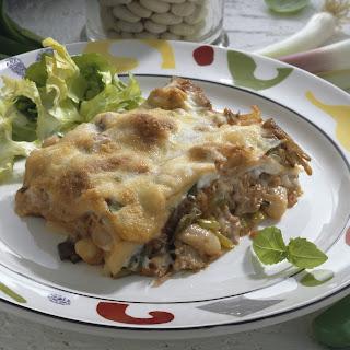 Thunfisch-Lasagne mit Oliven