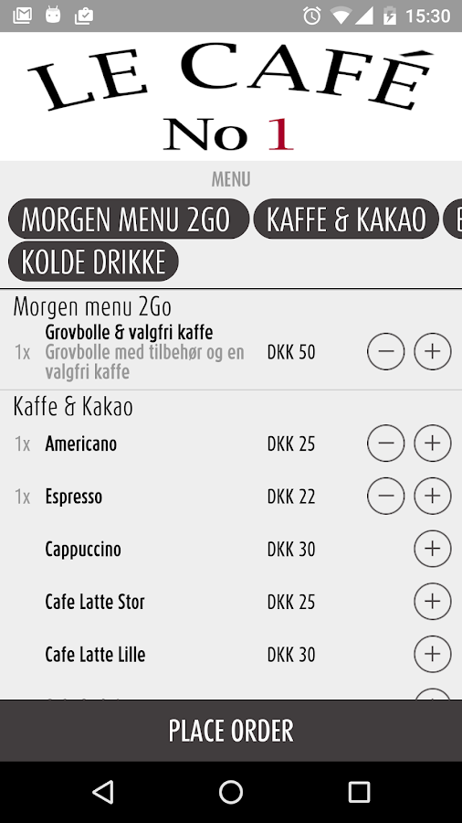 Le Cafe No1 Århusgade- screenshot