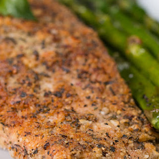 Almond-Crusted Parmesan Salmon.