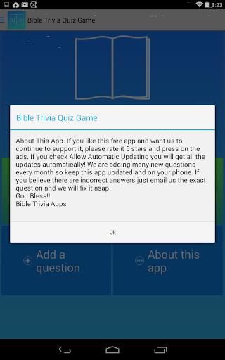 Bible Trivia Game Free screenshot 10