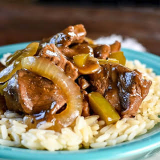 Beef Tips and Rice.