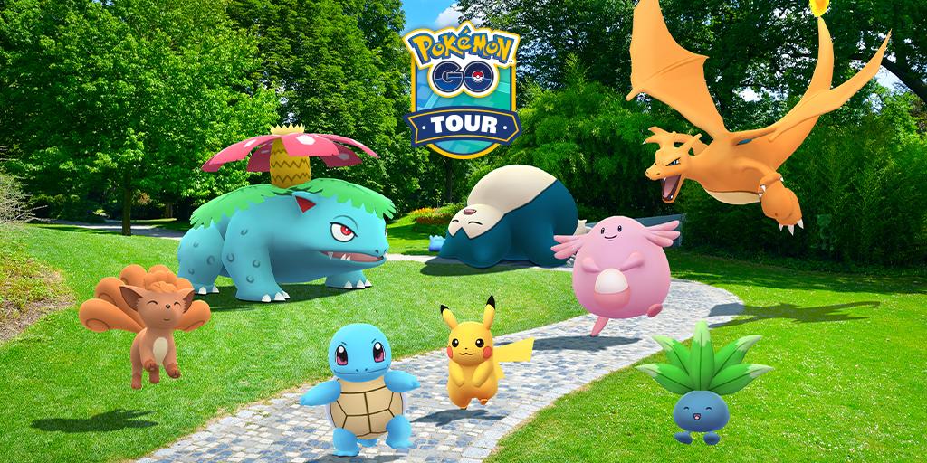 「Pokémon GO Tour:カントー地方」で、ポケモン25周年をお祝いしよう!
