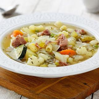 Vegetable Ham & Pasta Soup