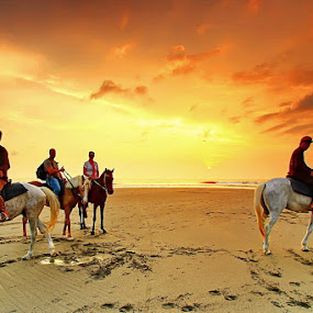 The Riders by Agoes Antara - People Street & Candids