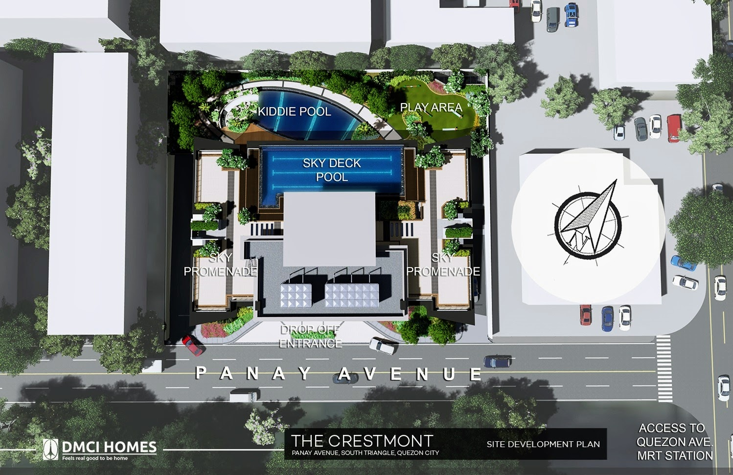 The Cresmont, Panay Avenue, Quezon City site development plan