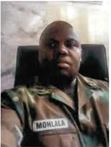 Image result for sandf major mohlala
