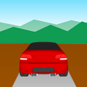 The distance between two cars icon