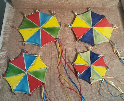 χαρταετός οκτάγωνος  κεραμικος