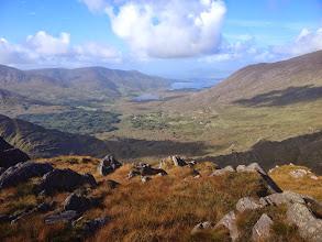 Photo: Isknagahiny Lough & Lough Currane - from Eagles Pinnacle