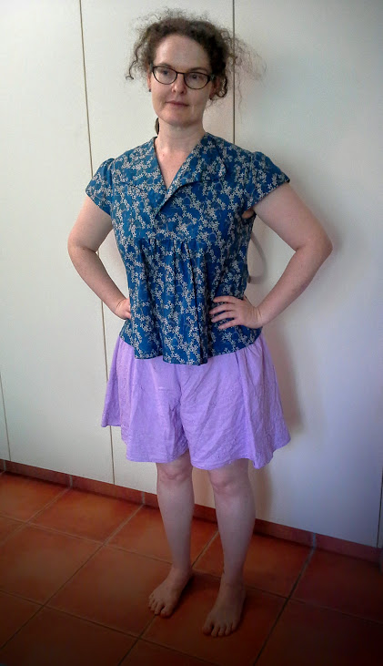 Wearing History 1940s Sunkissed Sweetheart shorts.