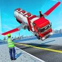 Flying Oil Tanker Truck Game icon