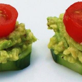 Avocado Cucumber Tomato Appetizers.