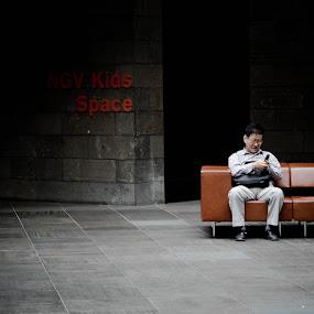 Big Kids by Brett Florence - People Portraits of Men ( phone, seat, ngv, kids, big )