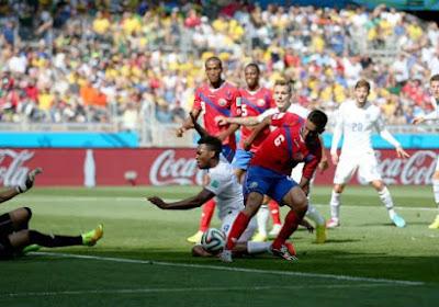 L'Angleterre et le Costa Rica dos à dos